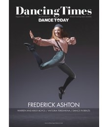 Dancing Times August 2018 front cover