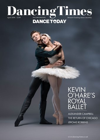 Dancing Times front cover April 2018 issue