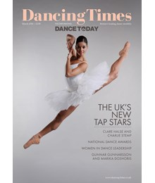 Dancing Times front cover March 2018 issue