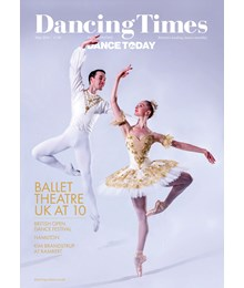 Dancing Times front cover May 2018 issue
