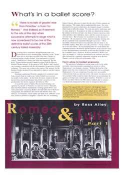What's in a Ballet Score Romeo and Juliet Study Aid