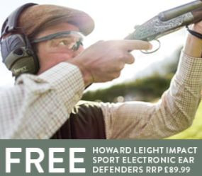Free Gift: Howard Leight Impact Sport Electronic Ear Defenders RRP £89.99