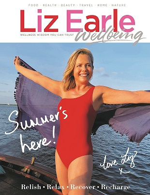 Liz Earle Wellbeing JulAug 2021 front cover