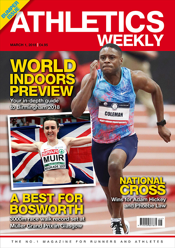 Athletics Weekly 01.03.18 front cover