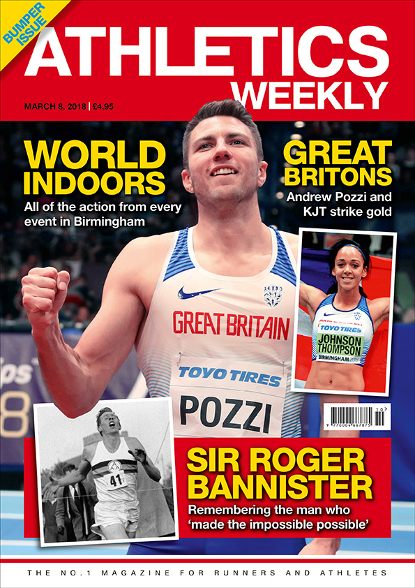 Athletics Weekly 08.03.18 front cover