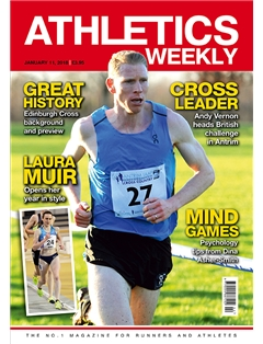 Athletics Weekly 11.01.18. front cover