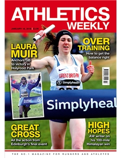 Athletics Weekly 18.01.18 front cover