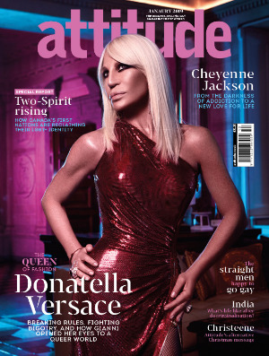 Attitude issue 304 front Cover_Donatella Versace