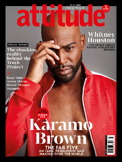 Attitude 298 front cover Karamo Brown