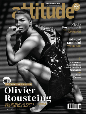 Attitude 300th Issue Olivier Rousteing cover
