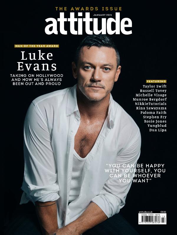 Attitude Issue 330 Luke Evans front cover