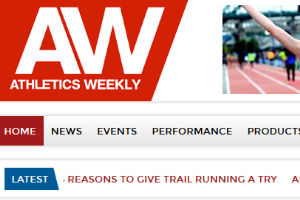 Screenshot of the Athletics Weekly Store Page