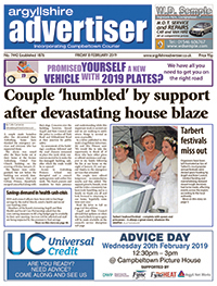 Argyllshire Advertiser front cover