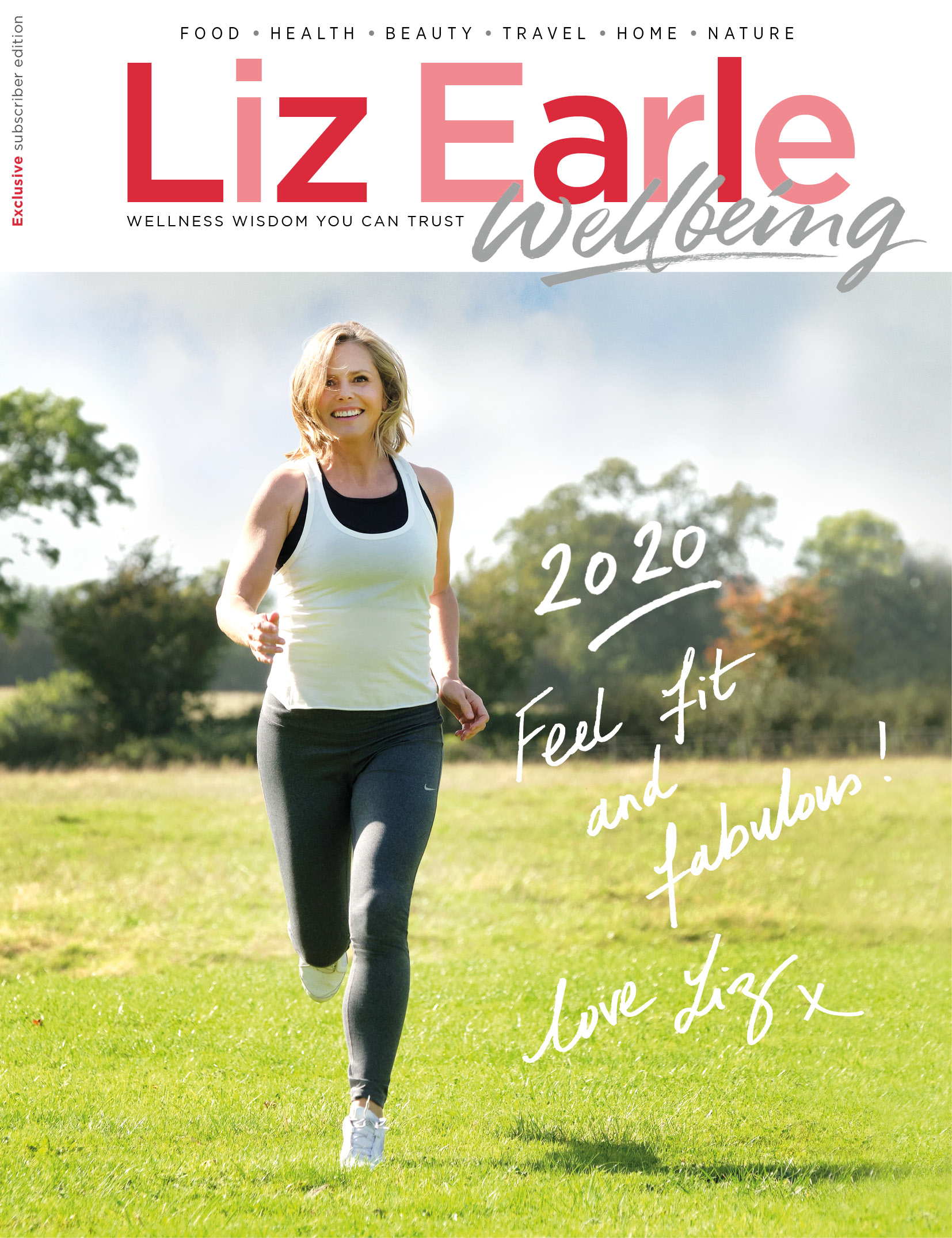 Liz Earle Wellbeing Front cover January February 2020
