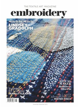 Embroidery November December 19 front cover