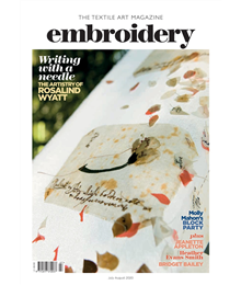 Embroidery Jul Aug 2020 front cover