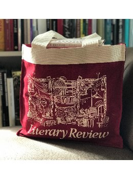 Literary Review Heavyweight Red Tote Bag