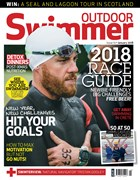 Front cover of the January issue of Outdoor Swimmer magazine