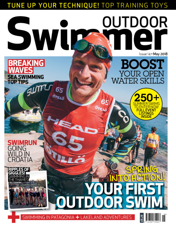Front Cover May issue of Outdoor Swimmer