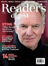 Readers Digest April 2021 front cover