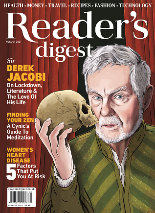 Readers Digest August 2021 front cover