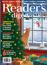 Readers Digest December 2020 front cover