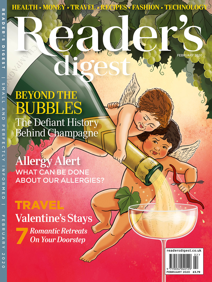 Readers Digest February 2020 cover