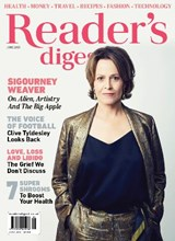Readers Digest June 2021 front cover