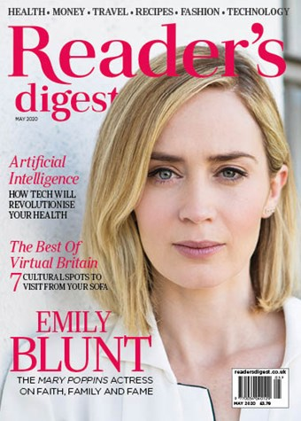 Readers Digest May 2020 front cover