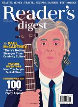 Readers Digest November 2021 front cover