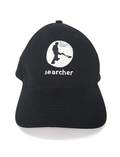 Searcher black baseball cap