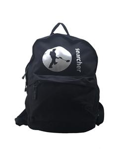 Black Searcher Rucksack with searcher logo
