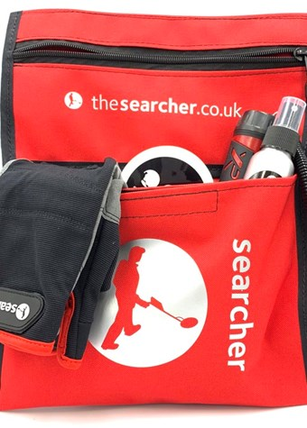 Searcher Red and Black finds pouch